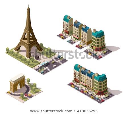 парижский · архитектура · исторический · зданий · ресторанов · бутик - Сток-фото © Anneleven
