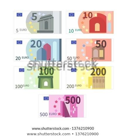 Grande conjunto diferente euro notas cinco Foto stock © evgeny89