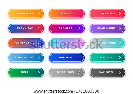 Colorido web botones Pack diferente diseno Foto stock © SArts