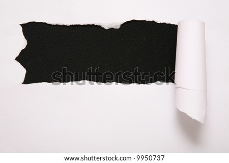 the sheet of torn paper against the black background 2 Stock photo © Paha_L