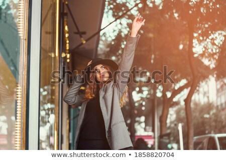 Girl in store looks upward Stock photo © Paha_L