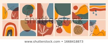 Streszczenie kolor pędzel czerwony wydruku Zdjęcia stock © orson