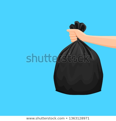 Garbage Bag and hand Stock photo © devon