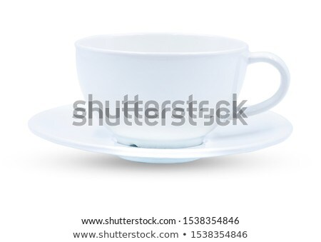 cup and saucer on white background stock photo © ozaiachin