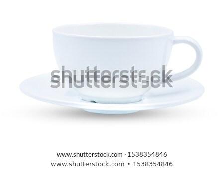 Taza platillo blanco café cocina restaurante Foto stock © ozaiachin