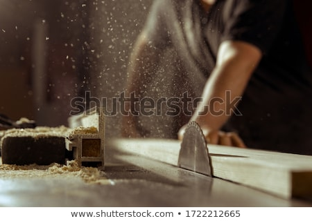 carpenter cutting wood stock photo © photography33