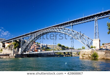 Dom Luis I Bridge, Porto, Douro Province, Portugal Stock photo © phbcz