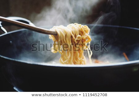 Foto stock: Panela · espaguete · fundo · tomates