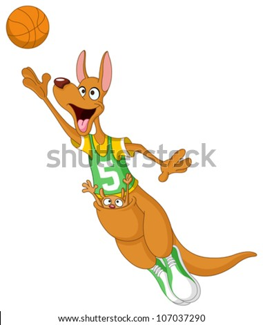 kangaroo - basketball player Stock photo © perysty