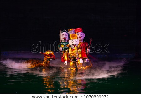 Water puppets Stock photo © sumners