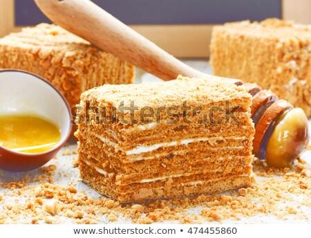 Honey-cakes on the white Stock photo © shutswis