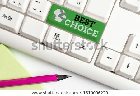 Tablica · piśmie · dwa · opcje · jeden - zdjęcia stock © raywoo