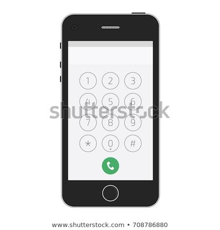 téléphone · portable · court · blanc · noir · image · téléphone - photo stock © stocksnapper