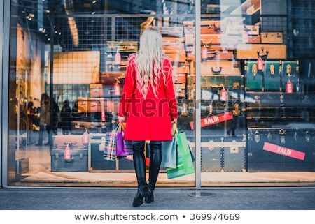 Foto d'archivio: Finestra · shopping · donna · piedi · store