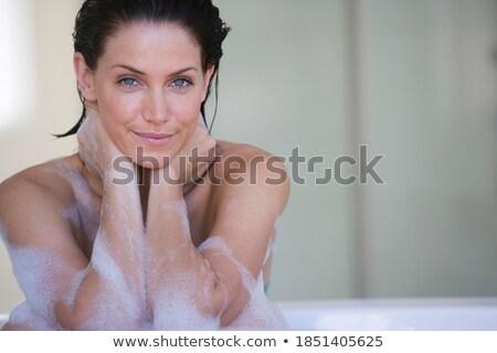 女性 リラックス 泡風呂 スパ セクシー ボディ ストックフォト © wavebreak_media