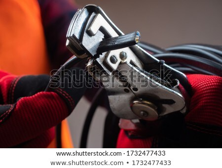 electrician with telephone and tools stock photo © photography33