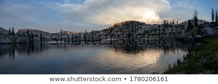 High Clouds over a Remote Lake Stock photo © wildnerdpix