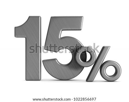 percent on white background isolated 3d image stock photo © iserg