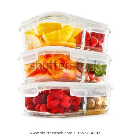 alimentos · contenedor · aislado · blanco · fondo · vida - foto stock © ozaiachin