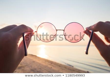 Kolorowy okulary pomarańczowy czerwony sklep chemia Zdjęcia stock © cheyennezj