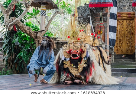 Costume of Barong for a traditional Balinese dance Stock photo © pzaxe