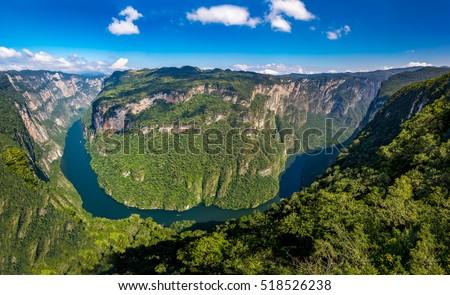 uçurum · kanyon · Meksika · kalker · duvar · doğa - stok fotoğraf © jkraft5