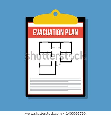 Evacuation plan Stock photo © cheyennezj