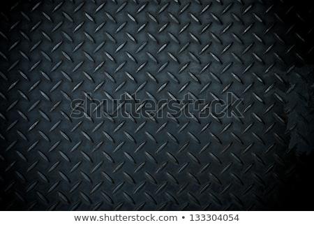 rozsdás · fém · gyémánt · tányér · használt · absztrakt - stock fotó © haraldmuc