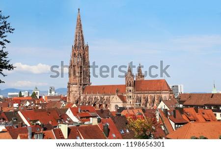 Catedral ciudad calle urbanas lámpara ciudad Foto stock © dinozzaver