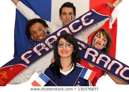 Two French couples ready to support their national team Stock photo © photography33