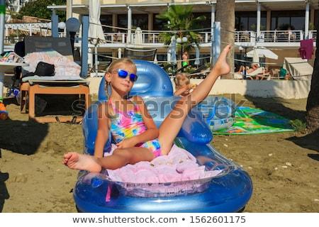 блондинка девушки купальник привлекательный Sexy вечеринка Сток-фото © fotoduki