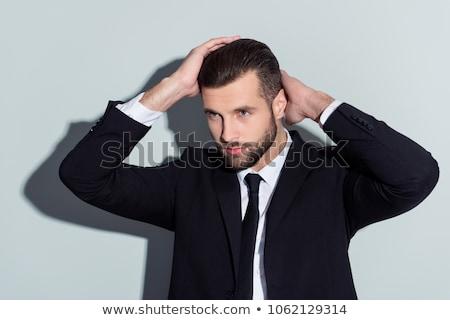 Modă om doua coafura tineri uita Imagine de stoc © feedough