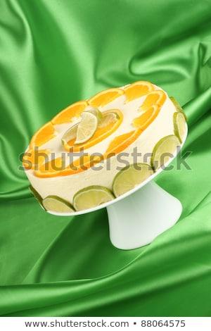 石灰 オレンジ クリーム 白 ケーキ ストックフォト © aladin66