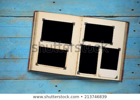 Pagina photo album vecchia foto album vecchio foto Foto d'archivio © neirfy