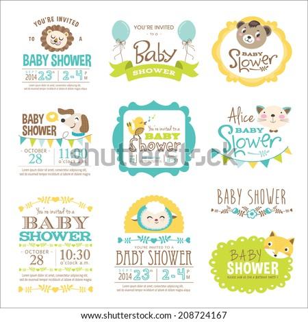 baby shower card with cat Stock photo © balasoiu