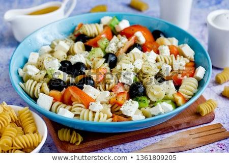 Feta saláta étel üveg paradicsom ebéd Stock fotó © M-studio