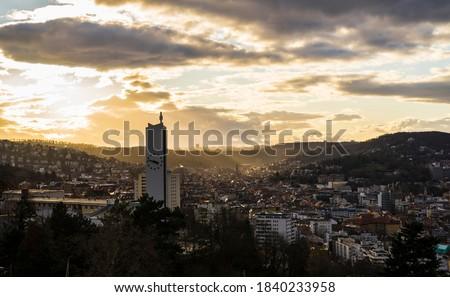 Germania · view · città · skyline · panorama · torre - foto d'archivio © chrisdorney