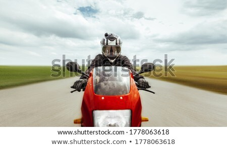 Motocicleta guantes carbono moto carretera diversión Foto stock © mady70