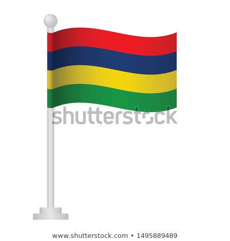 Mauritius Small Flag on a Map Background. Stock photo © tashatuvango