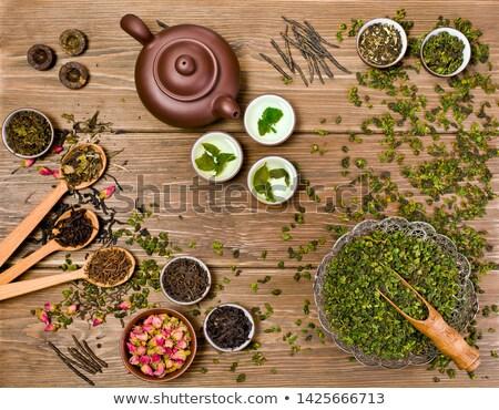 Oolong thee keramische beker voorraad Stockfoto © punsayaporn