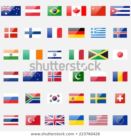 Thaiföld · zászló · web · design · stílus · térkép · gomb - stock fotó © kiddaikiddee