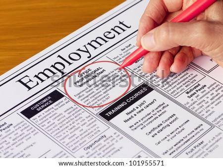 Adminisztrátor állások újság állás munka segítség Stock fotó © tashatuvango