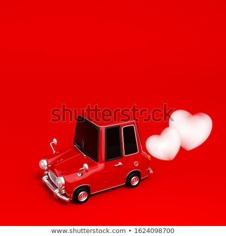 Dois vermelho corações 3d render amor Foto stock © mariephoto