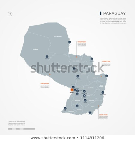 Pomarańczowy przycisk obraz mapy Paragwaj formularza Zdjęcia stock © mayboro