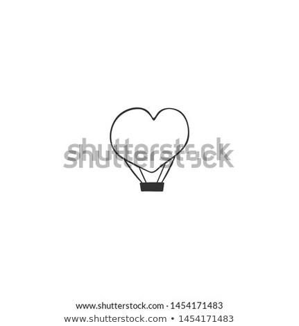 hot air balloon with lifestyle doodles stock photo © wavebreak_media
