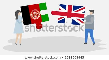 Büyük Britanya Afganistan bayraklar bilmece yalıtılmış beyaz Stok fotoğraf © Istanbul2009