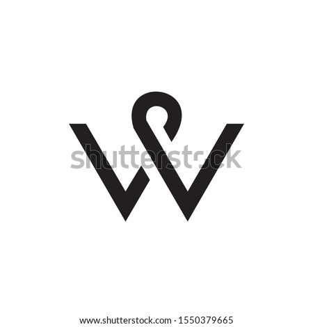 abstract vector logo letter w stock photo © netkov1