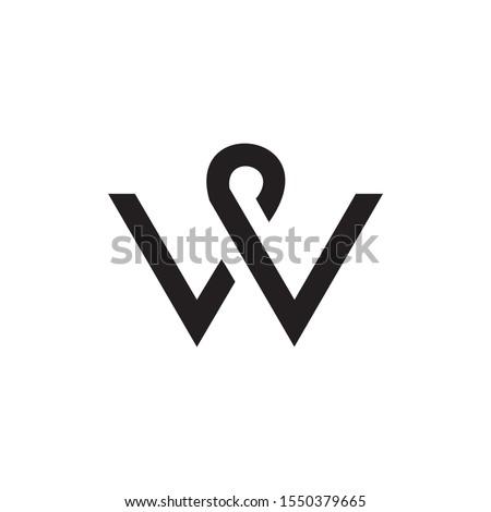 abstract vector logo letter W Stock photo © netkov1