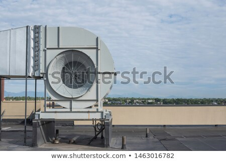 High-rise buildings on blue sky, side view Stock photo © cherezoff