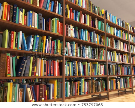 Volumes of books on bookshelf in library Stock photo © wavebreak_media